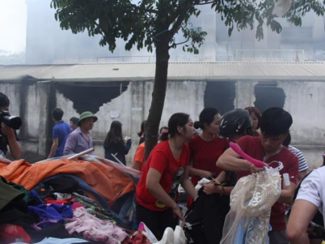 Hỏa hoạn ở chợ Quang: Khóc ngất vì mất hết tài sản