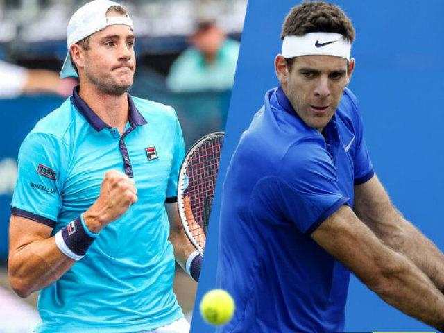 Del Potro - John Isner: Căng thẳng tie-break, bi kịch đến sớm (BK Miami Open)