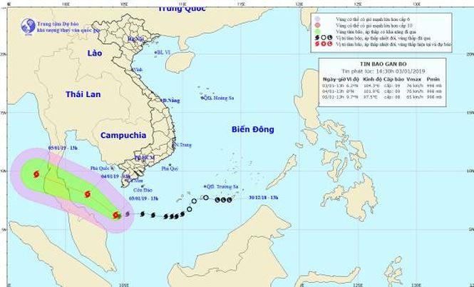 Bão số 1 cách Cà Mau 240km, cảnh báo lốc xoáy ở Nam Bộ - 1
