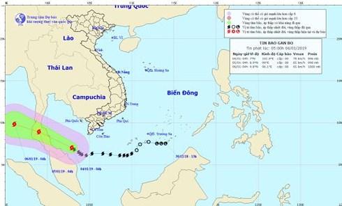 Bão số 1 giật cấp 12, di chuyển đến gần đảo Thổ Chu - 1