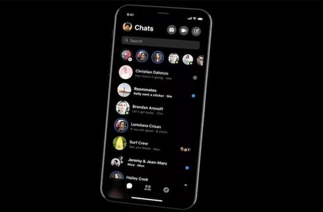 Facebook làm mới Messenger, có thêm tính năng Dark Mode - 1