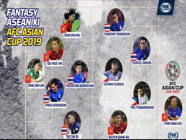 Đội hình mạnh nhất Đông Nam Á dự Asian Cup: Việt Nam xứng danh lá cờ đầu