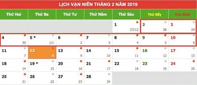 Nóng trong tuần: Thủ tướng phê duyệt lịch nghỉ Tết Nguyên đán Kỷ Hợi 2019 - 1