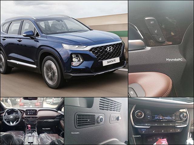 """Lộ hình ảnh nội thất của Hyundai SantaFe 2019 bản """"full-option"""""""