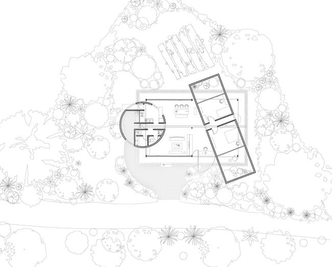 Hình vẽ mô tả rõ hơn thiết kế đặc biệt của 2 khu vực chức năng.