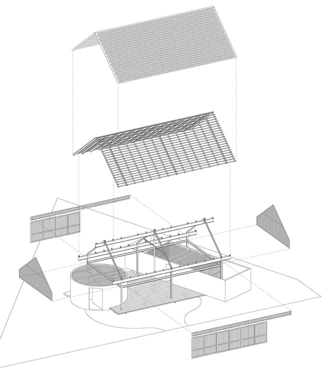 Bản vẽ mô tả các lớp của ngôi nhà