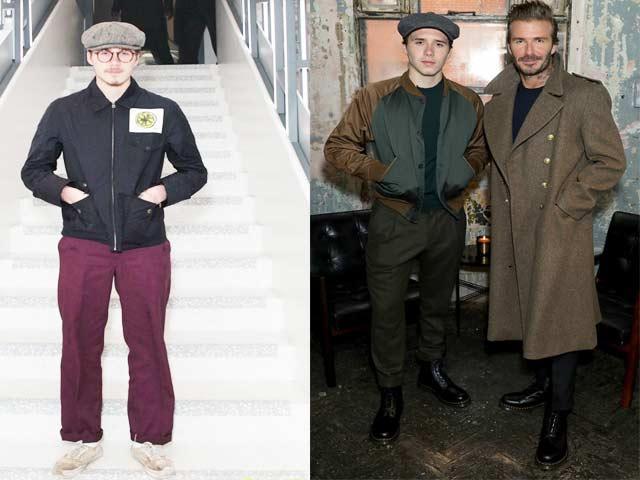Quý tử nhà Beckham và gu mặc già hơn cả bố