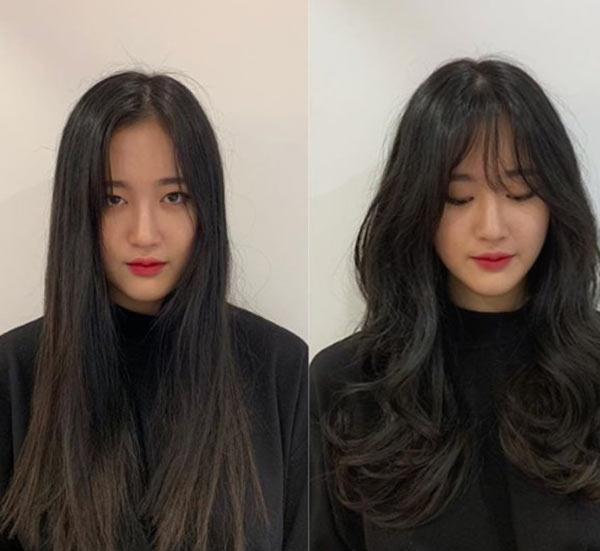 Chị em Hàn Quốc gợi ý tóc tỉa tầng xinh hợp mùa xuân - 1