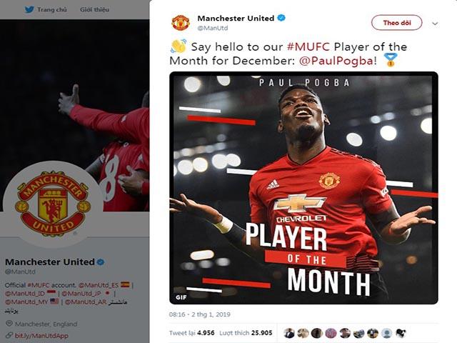 Pogba nhận liền 2 tin vui: Xuất sắc nhất MU, sẵn sàng nghênh chiến Tottenham