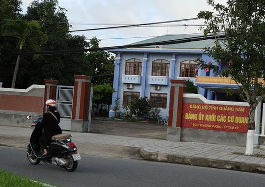 Quảng Nam: Kỷ luật phó bí thư Đảng ủy khối các cơ quan - 1