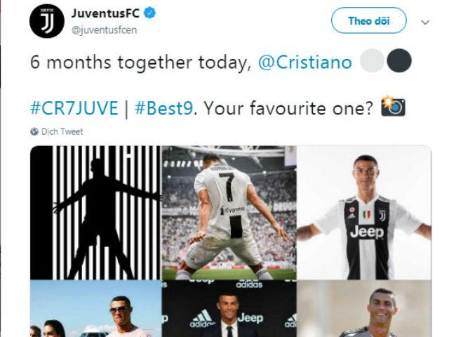 """Ronaldo tròn 6 tháng gia nhập Juventus: Nhận quà đặc biệt từ """"Lão bà"""""""