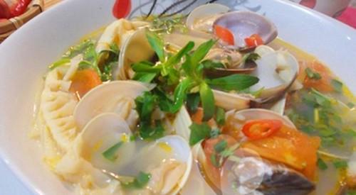 Canh ngao nấu măng chua nóng hổi - 1