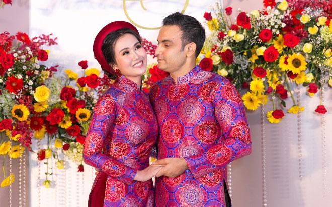 """Võ Hạ Trâm bật khóc trong tiệc cưới """"thiên đường"""" cùng chồng doanh nhân Ấn Độ - 1"""