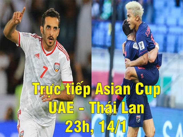 Live Asian Cup Football, UAE - Thailand: