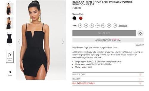 Cô gái hết hồn khi diện thử váy xẻ được mua online - 1