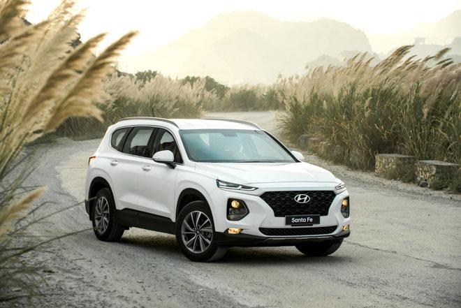 Bảng giá xe Hyundai 2019 - Mua xe Hyundai SantaFe phiên bản mới với mức giá ưu đãi - 1