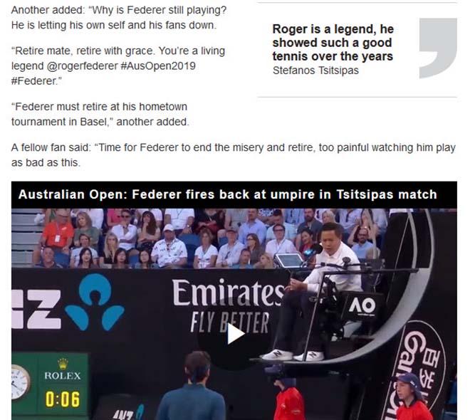 Federer nhận đòn đau ở Australian Open: Thêm cú sốc giải nghệ? - 1