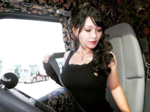 """Ngắm nhan sắc của cô gái được mệnh danh """"nữ tài xế xe tải xinh đẹp nhất Nhật Bản"""" - 1"""