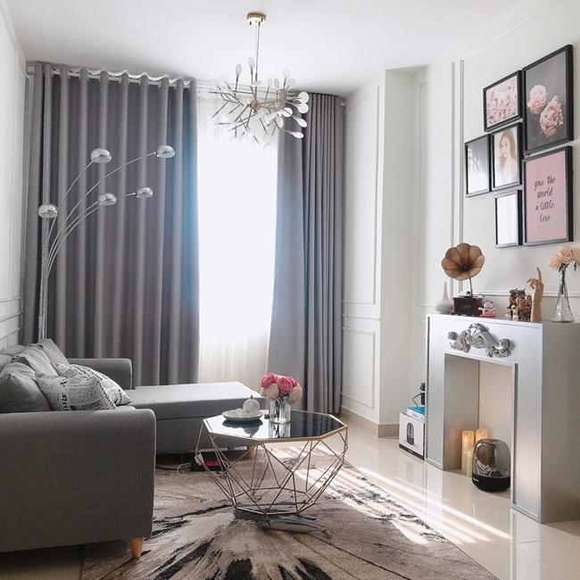 Cận cảnh phòng khách trong căn hộ hơn 2 tỷ của Thúy Vi.
