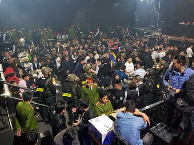 Gần 100 nam nữ thanh niên dương tính chất ma túy trong quán bar ở Huế