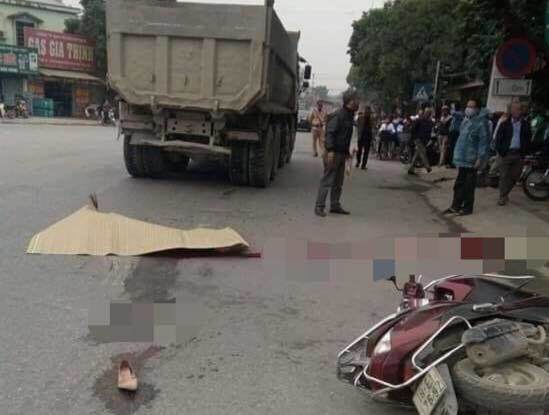 Pregnant woman with double pregnancy 7 months miserable death after collision with a truck - 1