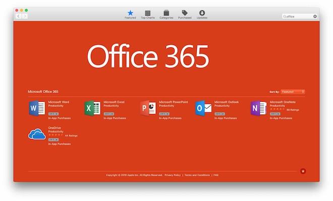 Microsoft đưa ứng dụng Office 365 lên Mac App Store - 1