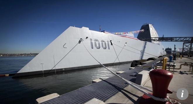 Siêu tàu chiến tàng hình Mỹ 8,2 tỷ USD ra khơi không có đạn bắn - 1