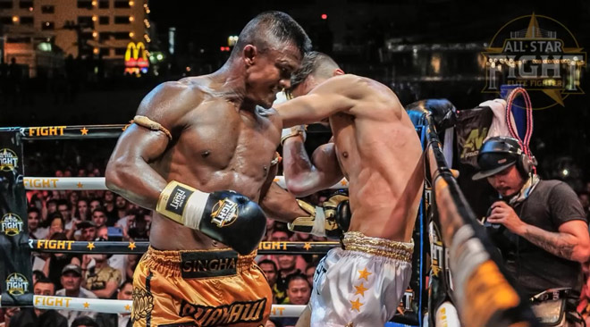 """Cú đấm đáng sợ của """"Thánh Muay Thái"""" Buakaw: Đối thủ tê liệt toàn thân - 1"""