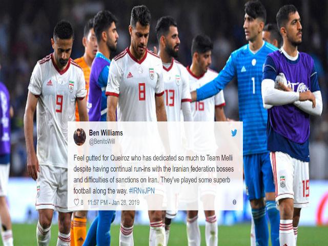 """Iran thua sốc 0-3: Fan lo sư phụ Ronaldo """"đào tẩu"""", bái phục """"ông trùm"""" Nhật Bản"""