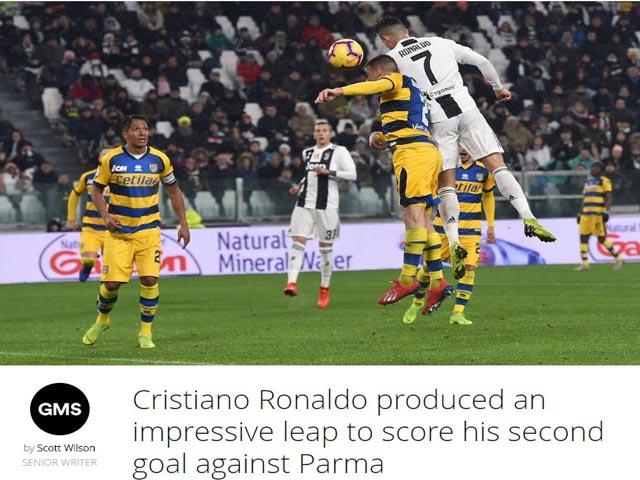 """Ronaldo """"lên đỉnh"""" Serie A: Báo chí tiếc nuối, ngỡ ngàng kiểu ăn mừng mới"""