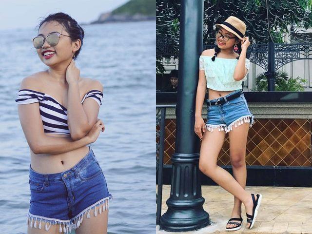 16 tuổi: Phương Mỹ Chi ngày càng sành điệu với áo croptop, quần te tua