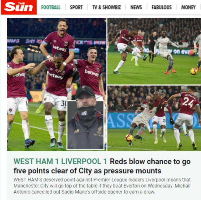 """Liverpool vấp ngã, đua vô địch nóng rực: Báo Anh lo bị Man City """"lật đổ"""" - 1"""