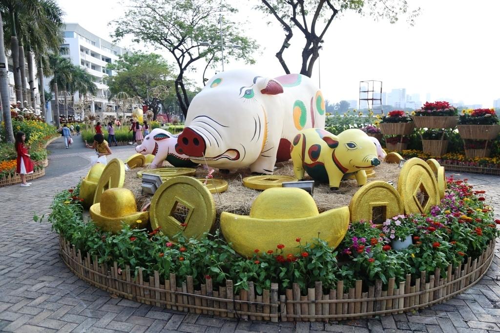 """Hình ảnh làng quê tại hội hoa xuân khiến nhiều người """"mê mệt"""" ở Sài Gòn - 1"""