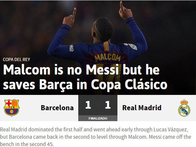 Barca - Real bất phân thắng bại: Báo chí chê Messi tầm thường, nhớ Ronaldo