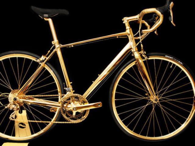 """""""Bóc giá"""" loạt xe đạp phủ vàng, đại gia mua xong nơm nớp lo"""