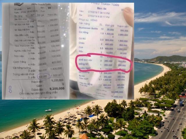 """Nhà hàng Nha Trang """"chém đẹp"""" du khách: 500.000 đ / trúng xào, 300.000đ / đậu luộc"""