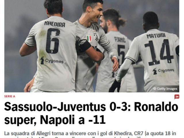 """""""Độc cô cầu bại"""" Juventus đại thắng: Báo Italia ngả mũ siêu nhân Ronaldo"""