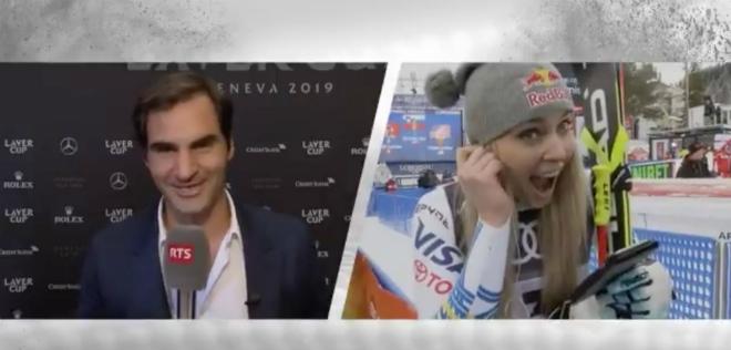"""Federer """"thả thính"""" mỹ nhân trượt tuyết, nhận """"món quà"""" đáp trả bất ngờ - 1"""