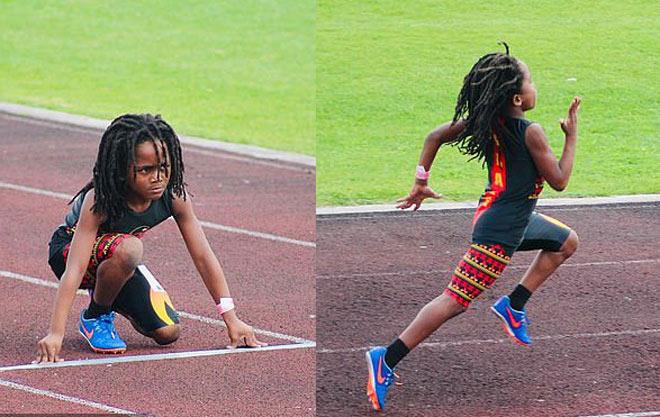 """Xuất hiện Usain Bolt 7 tuổi: """"Tia chớp"""" chạy 100m nhanh nhất thế giới - 1"""