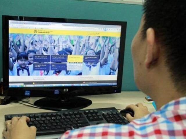 Năm học 2019-2020, Hà Nội tiếp tục tuyển sinh trực tuyến vào mầm non, lớp 1, lớp 6