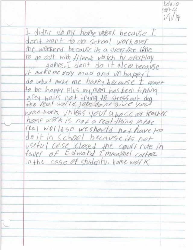 Cậu bé viết thư giải thích lý do không làm bài tập, đọc xong ai cũng khen nức nở - 1
