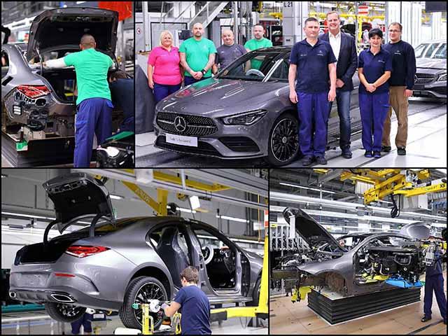 Mercedes-Benz CLA 2020 thế hệ mới bắt đầu lên dây chuyền sản xuất