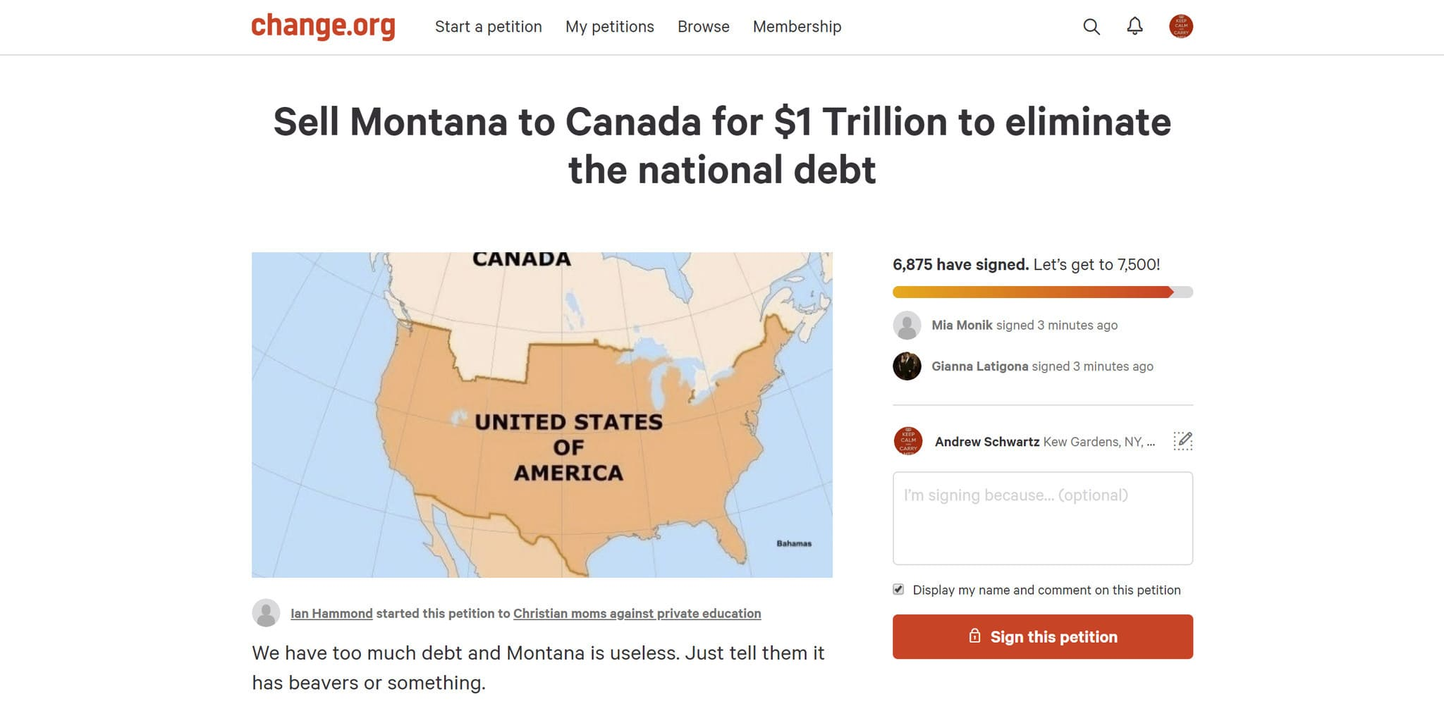 Public debt increased, thousands of Americans wanted to sell one state to Canada - 1