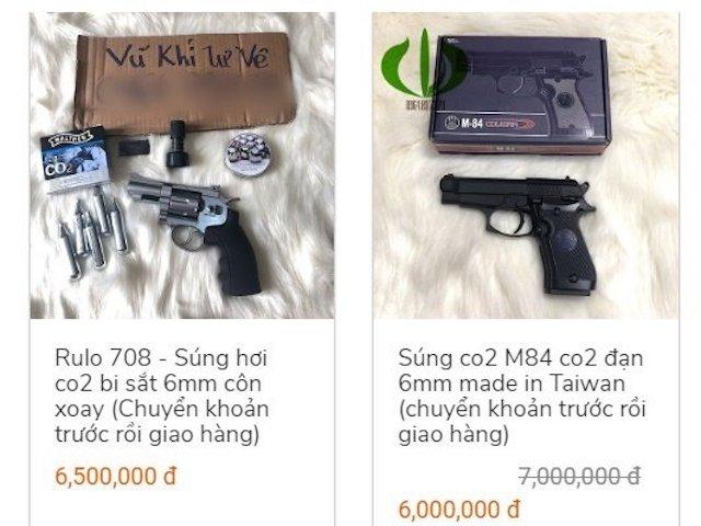 Roi điện, súng bắn bi bán như rau trên mạng bất chấp lệnh cấm