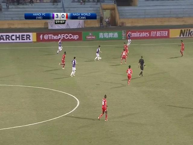 AFC Cup, Hà Nội FC - Nagaworld: Siêu phẩm mở màn, kinh hoàng tỉ số 10-0