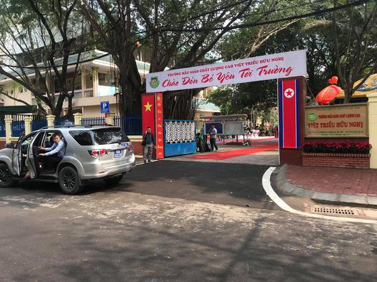 Triển khai công tác an ninh, trải thảm đỏ tại trường Mẫu giáo Việt-Triều - 1