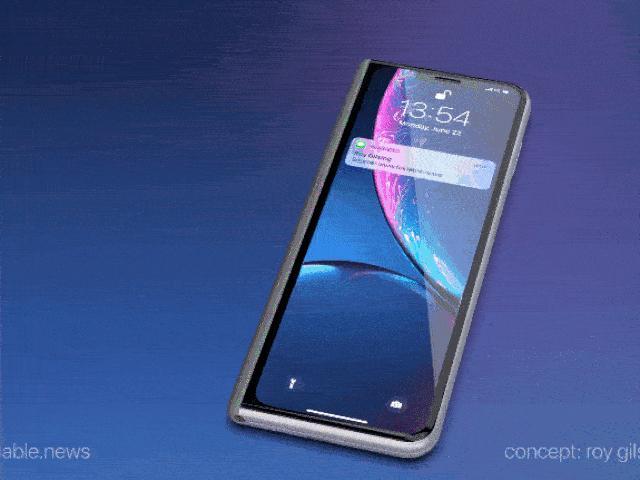 iPhone gập lại siêu đẹp lấy cảm hứng thiết kế từ Galaxy Fold