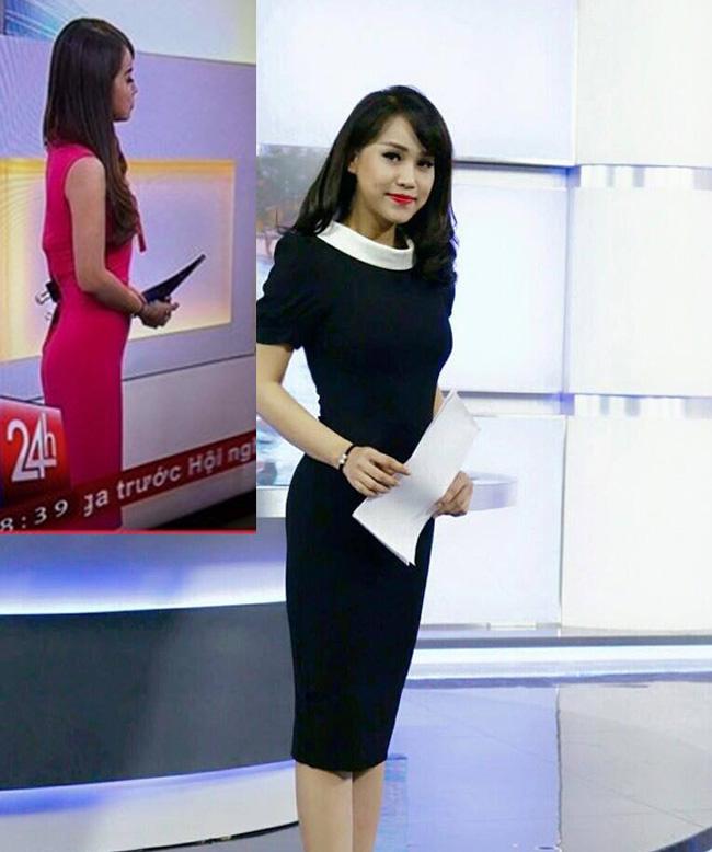 Trang phục không vừa người phải dùng kẹp giấy định hình cũng khiến Trúc Mai bị lộ khoảnh khắc kém duyên trên truyền hình.