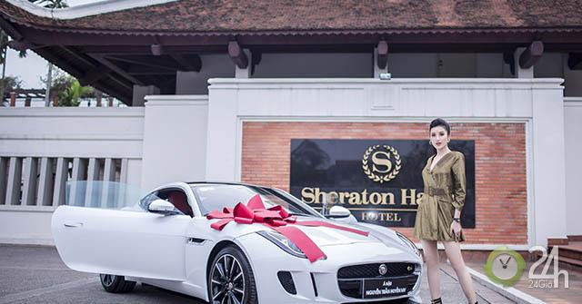 """Á hậu Huyền My """"tậu"""" xe thể thao Jaguar F-Type giá 6 tỷ đồng"""