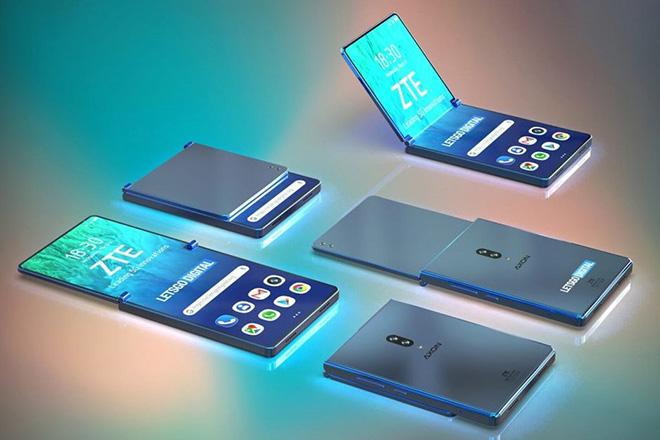 ZTE làm smartphone gập lại, đẹp hơn Galaxy Fold và Mate X? - 1